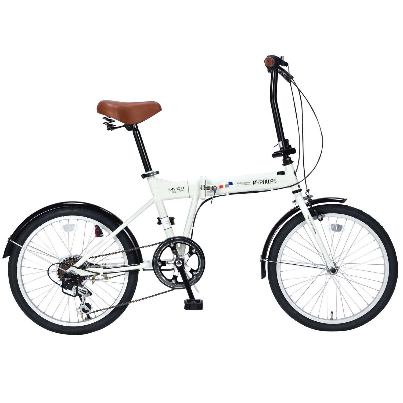 My Pallas(マイパラス) 折畳自転車20インチシマノ6段ギア M-208 B076HRH9CR アイボリー アイボリー