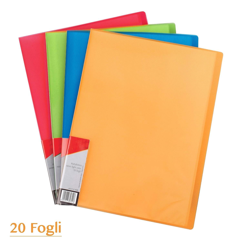 Portalistino Neon Arancio 20 Buste A4