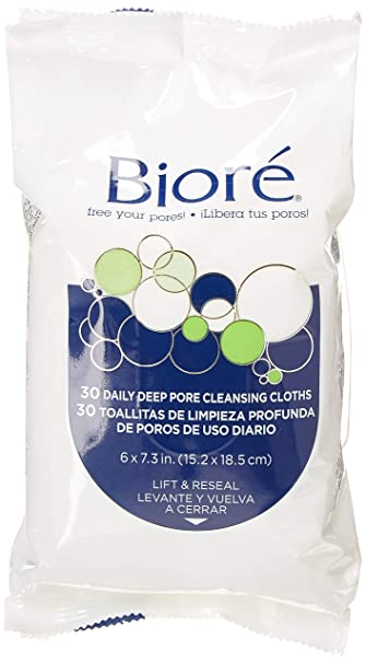 Amazon.com: Biore Daily Deep Pore Cleansing Cloths 60 Count (2 Pack): Beauty