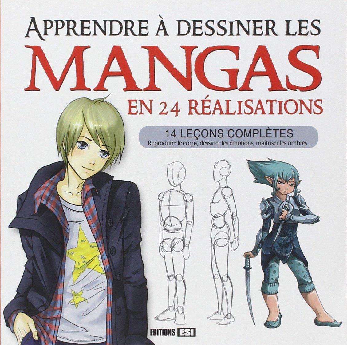 Amazon Fr Apprendre A Dessiner Les Mangas En 24 Realisations Sarnavska Irina Collectif Livres