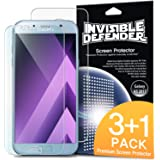 Galaxy A5 2017 Screen Protector, Invisible Defender [CLEARNESS][Case Compatible] Perfect Touch Precision High Definition (HD) Protective Clear Film (3 Front+1 Back) for Samsung Galaxy A5 2017