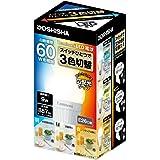 ルミナス LED電球 3色切替タイプ(昼白色/白色/電球色) 広配光 60W相当 887lm 口金E26 LDAS60SWG