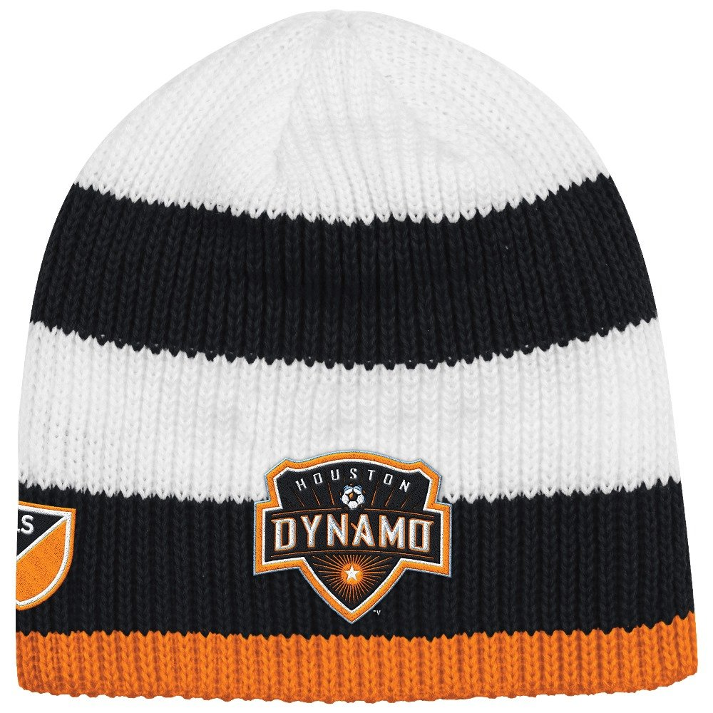 69cbef9fdac Amazon.com   adidas Houston Dynamo MLS Authentic Draft Cuffless Knit Hat    Sports   Outdoors