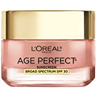 Face Moisturizer by L'Oreal Paris Skin Care, Age Perfect Rosy Tone Moisturizer for Face with LHA and Imperial Peony, Anti-Aging Day Cream for Face, Non-greasy, SPF 30, 2.55 oz