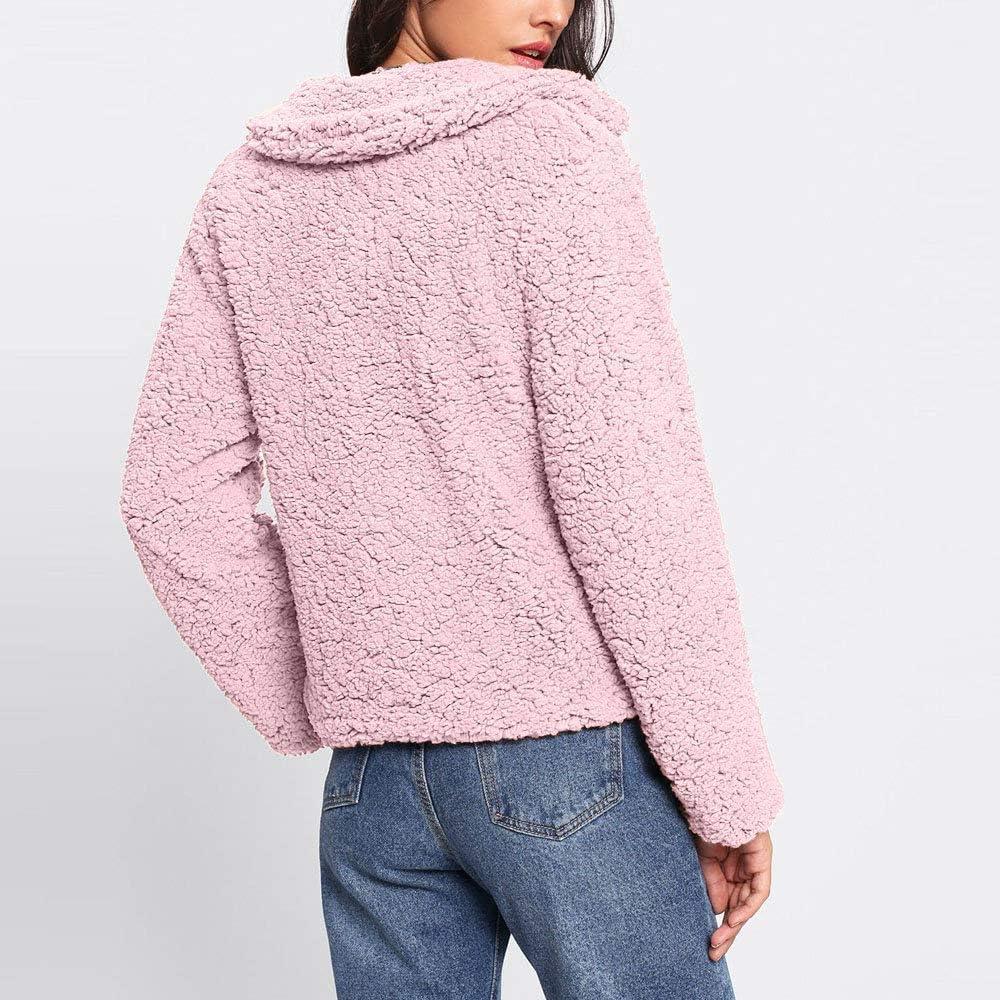 Miuye yuren Womens Warm Winter Outwear Jackets Open Front Long Cardigan Faux Shearling Shaggy Coat