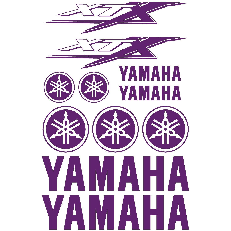 Stickers sticker yamaha xtx ref moto 180 violet amazon co uk kitchen home