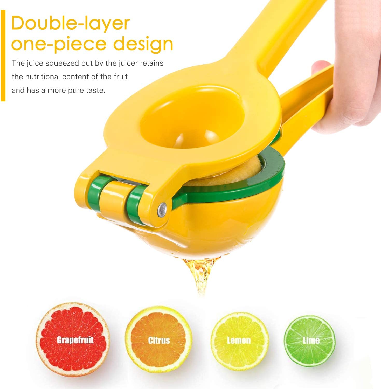 Fruit & Vegetable Tools Adoric Lemon Squeezer Yellow and Green ...