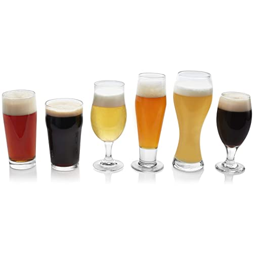 Libbey Craft Brews Assorted Beer Glasses, Set Of 6