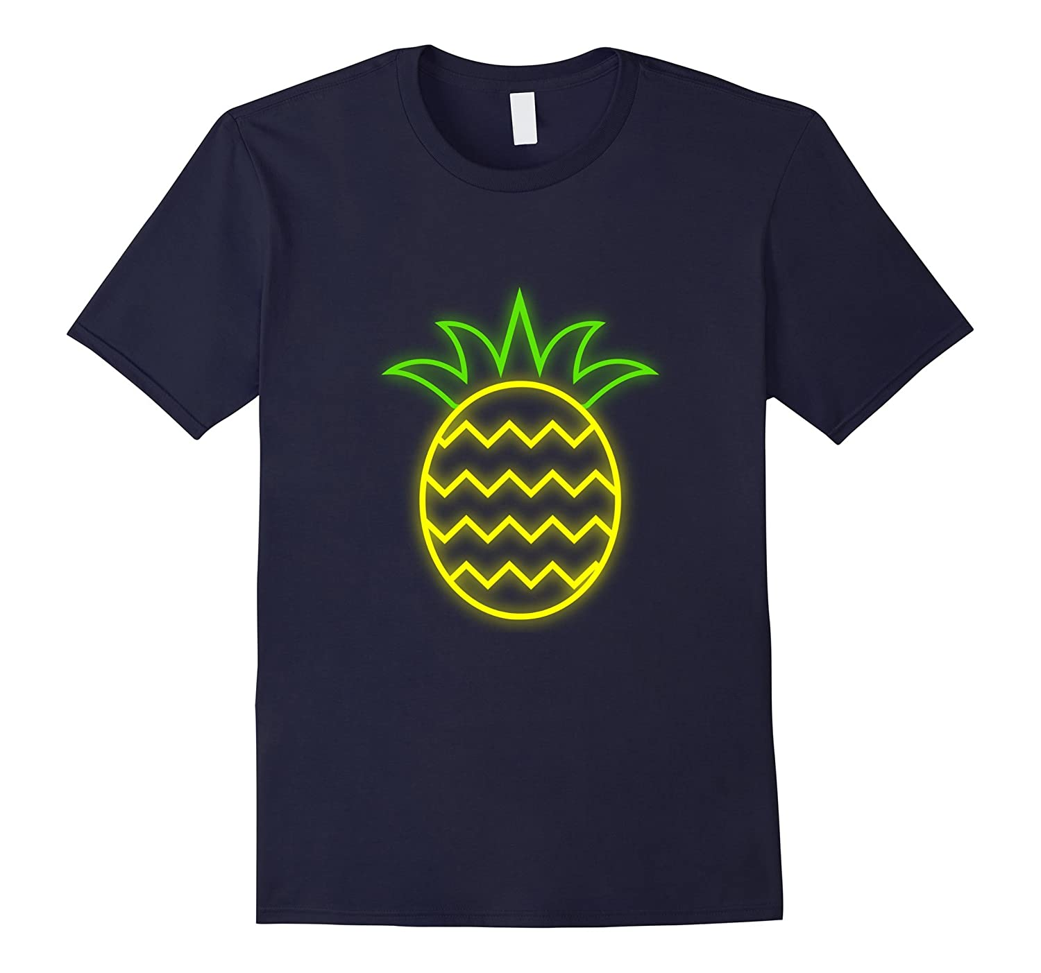 80s Neon Pineapple Aloha T-Shirt 80s Clothes for Women Men-T-Shirt