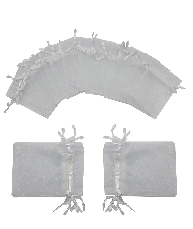 Ankirol 100pcs Wedding Favors Sheer Organza Favor Bags 2x3'' Gift Bags Samples Display Drawstring Pouches Color Send By Random(mix eyelash&butterfly)