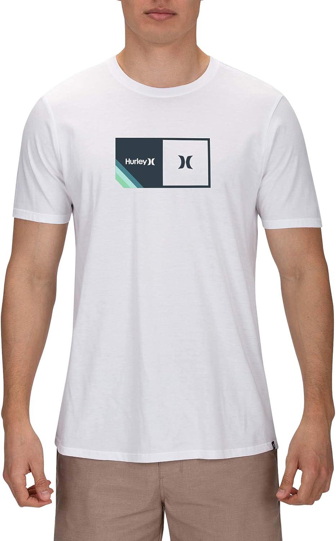 Hurley Mens Premium Halfer Stripe Short Sleeve Tshirt