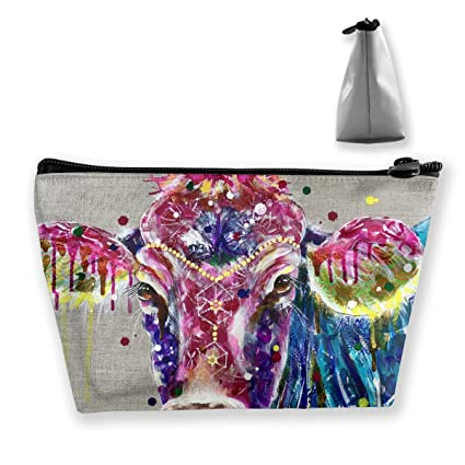 05c406e3caaf Amazon.com: customgogo Women's Colorful Cow Travel Makeup Bags ...