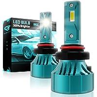 Glowteck 9005/HB3 LED Headlight Bulbs Conversion Kit - Low Beam/Fog Light 20,000 Lumen/Pair 6500K Cool White IP65 water…