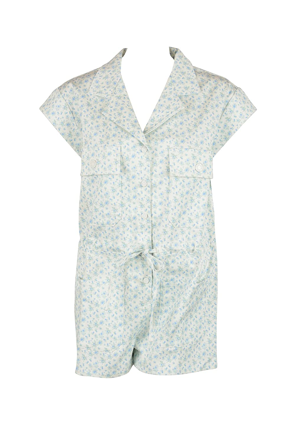 Girl by Band of Outsiders Womens Floral Denim SS Romper