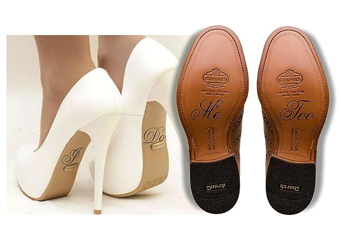 Wedding Shoe Decal Sticker I Do And Me Too Bride Groom