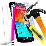 PACK A&D® FILM PROTECTION Ecran en VERRE Trempé pour LG G4 STYLUS filtre protecteur d'écran INVISIBLE & INRAYABLE vitre INCASSABLE + STYLET ROSE pour Smartphone LG G4 Stilus titane 5,7 pouces lte 4g h635n h635 or titan