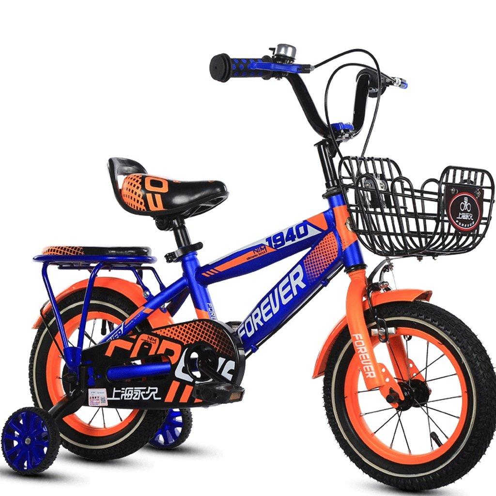 子供3-12歳の自転車の少年少年のベビーカーの子供ペダルの自転車の子供屋外マウンテンバイク (色 : 青, サイズ さいず : 18 inches) B07DBWR6LL 18 inches 青 青 18 inches