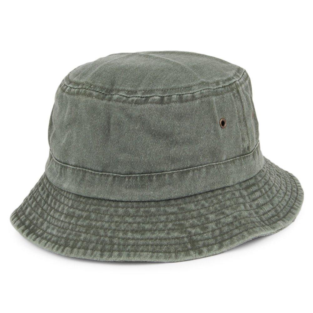 Village Hats Packable Cotton Bucket Hat - Olive