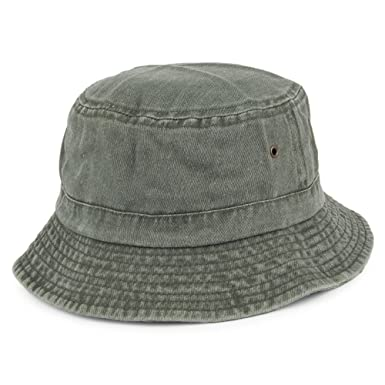 Village Hats Packable Cotton Bucket Hat - Olive  Amazon.co.uk  Clothing 0489f55ccf2
