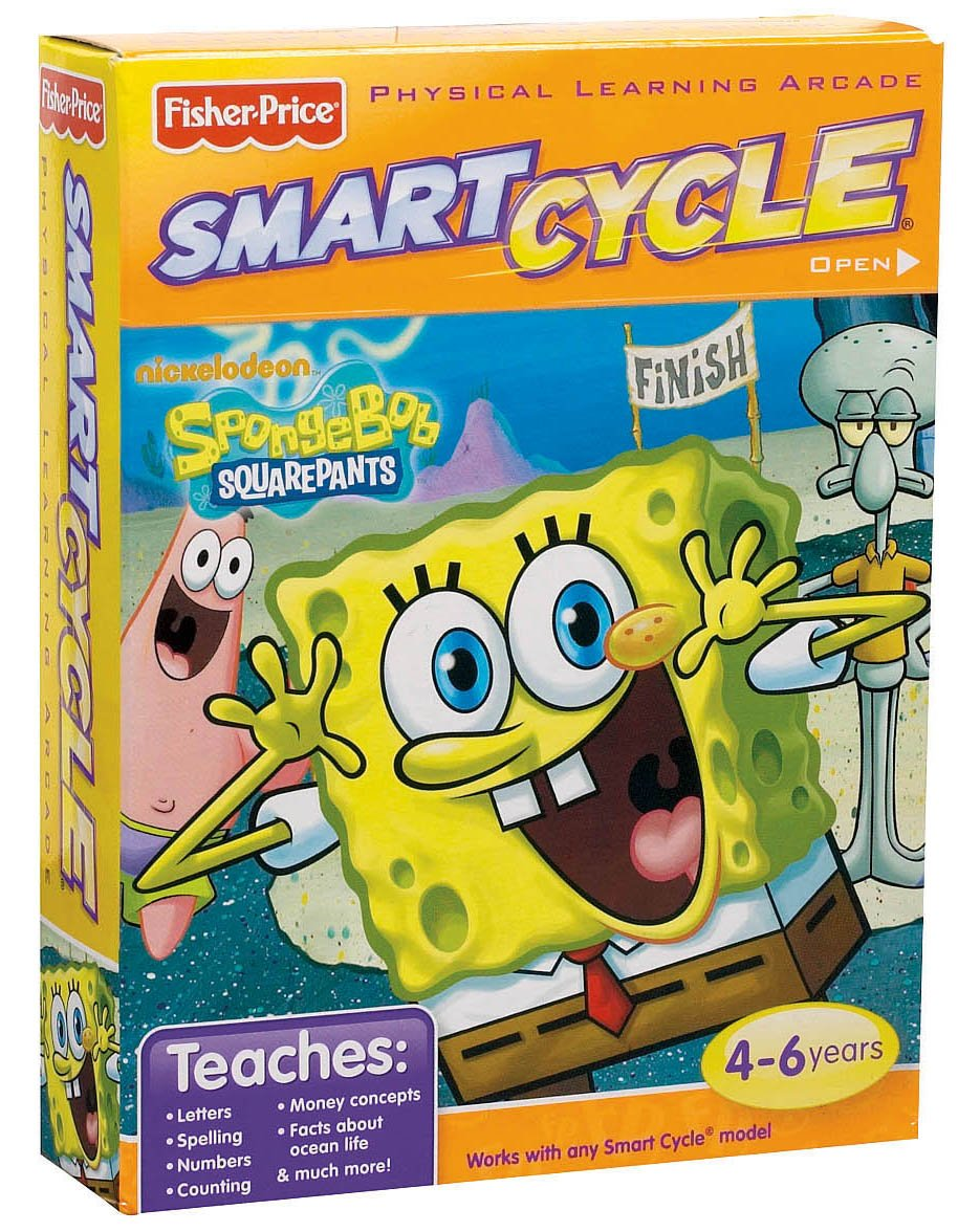 Fisher-Price Smart Cycle [Old Version] SpongeBob Software Cartridge by Nickelodeon (Image #4)