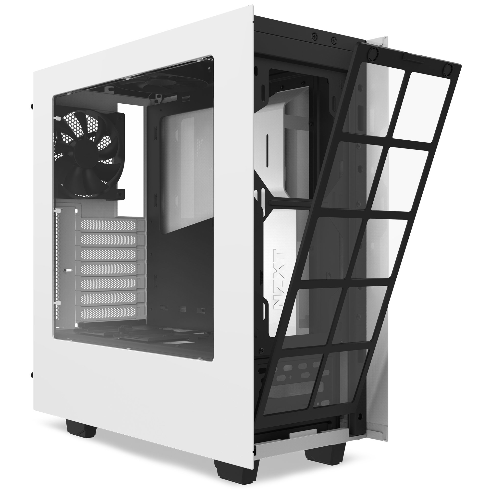 NZXT S340 Mid Tower Computer Case, White (CA-S340W-W1) by Nzxt (Image #6)