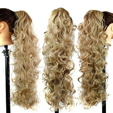 Hibote Femme Perruques Ondulées Blonde -