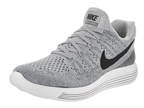 Amazon.com | Nike Womens Lunarepic Low Flyknit 2 Running Shoe (9, Wolf Grey/Cool Grey/Pure Platinum/Black) | Road Running