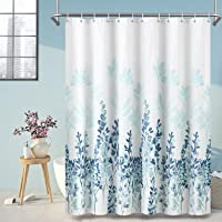 ARICHOMY Shower Curtain Set Bathroom Fabric Fall Curtains Waterproof Colorful Funny with Standard Size 72 by 72 (Blue…