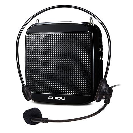 SHIDU Amplificador de voz (18 W) con 1200 mAh batería de litio y el