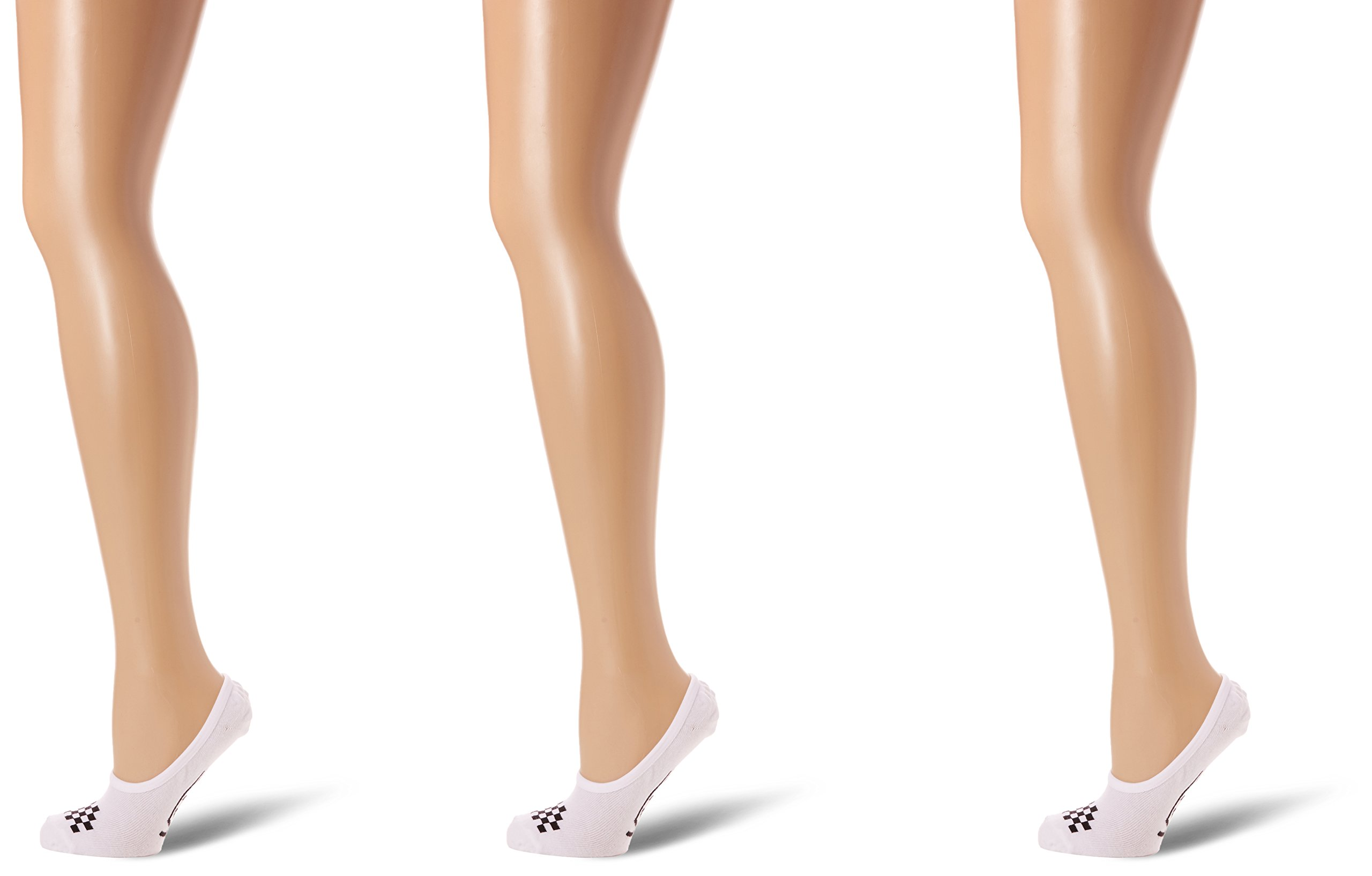 Vans Womens Socks No Show 3 Pair White Socks Size 7-10