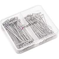 Dreamlover 100 Pack Wig T-pins with Plastic Transparent Package Box, Wig T-pins for Holding Wigs and Hair Extensions on Wig Head (50 Pack 1.5 inches and 50 Pack 2.0 inches)