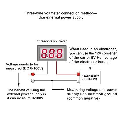 71drrhuvd9L._SX425_ car voltmeter wiring diagram automotive voltmeter wiring \u2022 free 3 wire voltmeter wiring diagram at suagrazia.org
