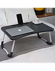 Laptop Bed Table, Breakfast Tray with foldable legs, Portable Lap Standing Desk, Notebook Stand Reading Holder for Couch Sofa Floor Kids - Standard Size