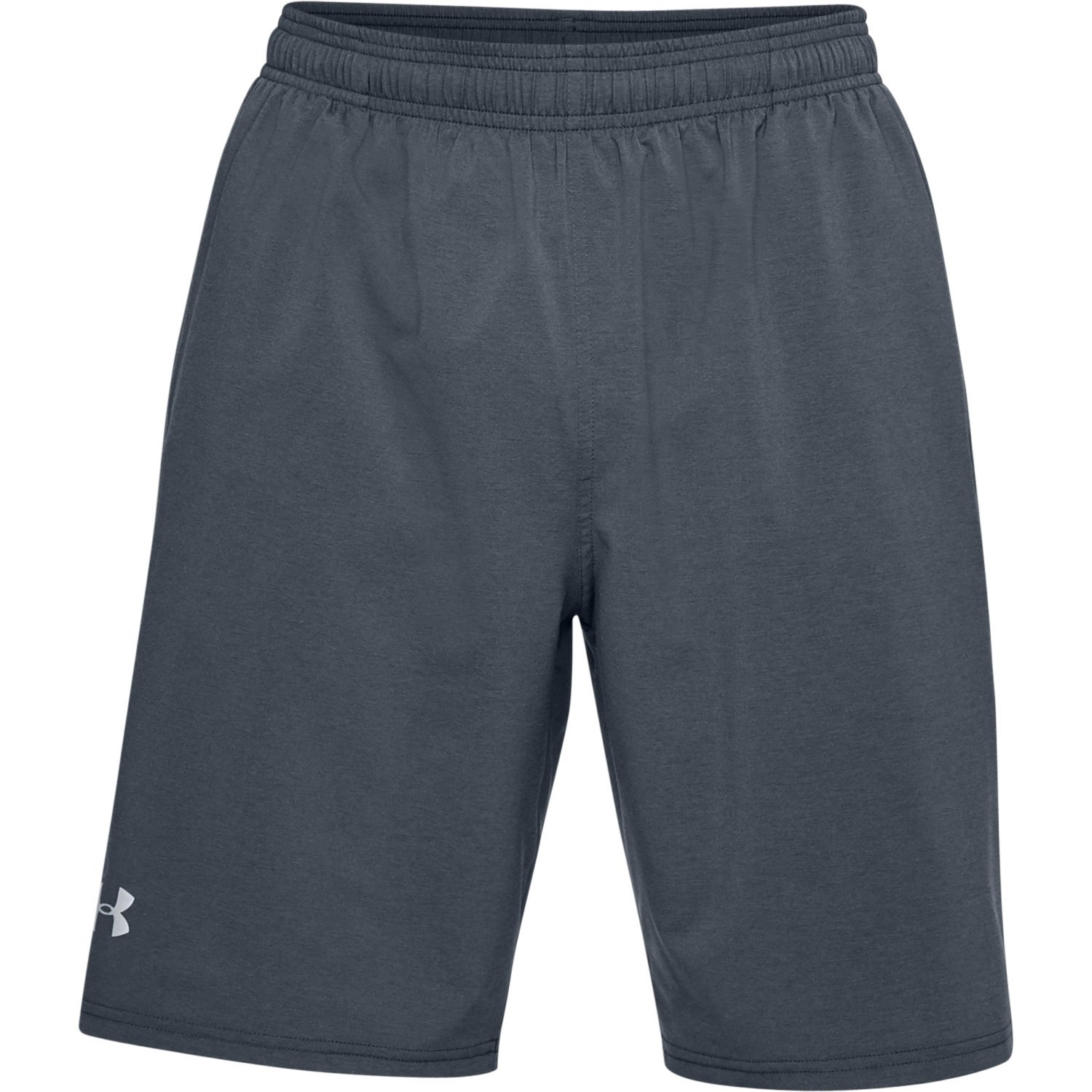 Under Armour Men's Launch 9'' Shorts, Black Medium Heather/Reflective, Small