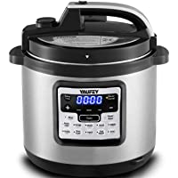 Yaufey Electric Pressure Cooker 6.3Qt 12-in-1 Instant Stainless Steel Pot, 12 Program Slow Cooker, Rice Cooker, Steamer, Yogurt Maker, Sauté, Warmer with Extra Glass Lid, Sealing Ring, 1-Year Warranty