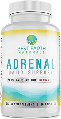 Adrenal Support Supplement Cortisol Manager with Rhodiola Rosea, B Vitamins, Ginger Root, Ashwagandha, Licorice and More for Adrenal Health 30 Count