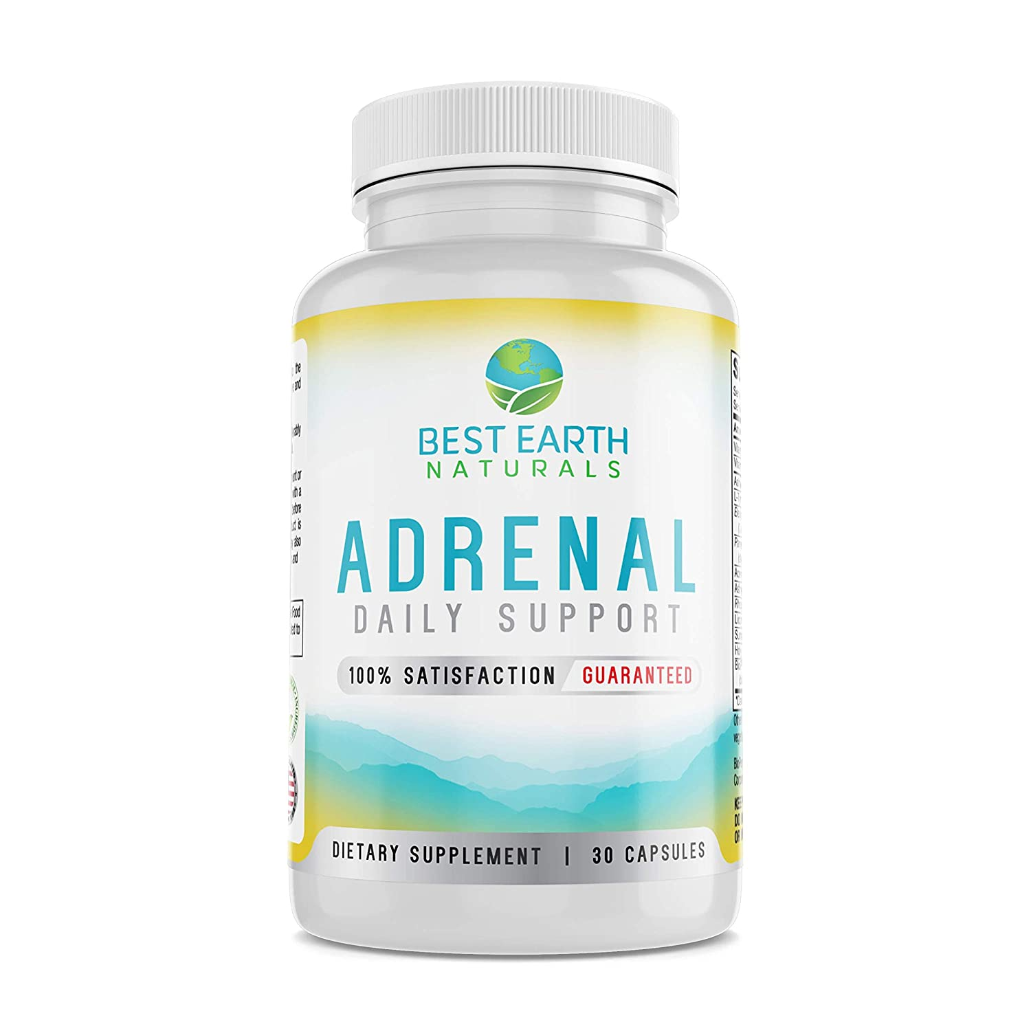 Adrenal Daily Support Supplement by Best Earth Naturals - Cortisol Manager with Rhodiola Rosea,...