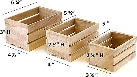 Multicraft - Juego de cajas de madera pequeñas para manualidades ...