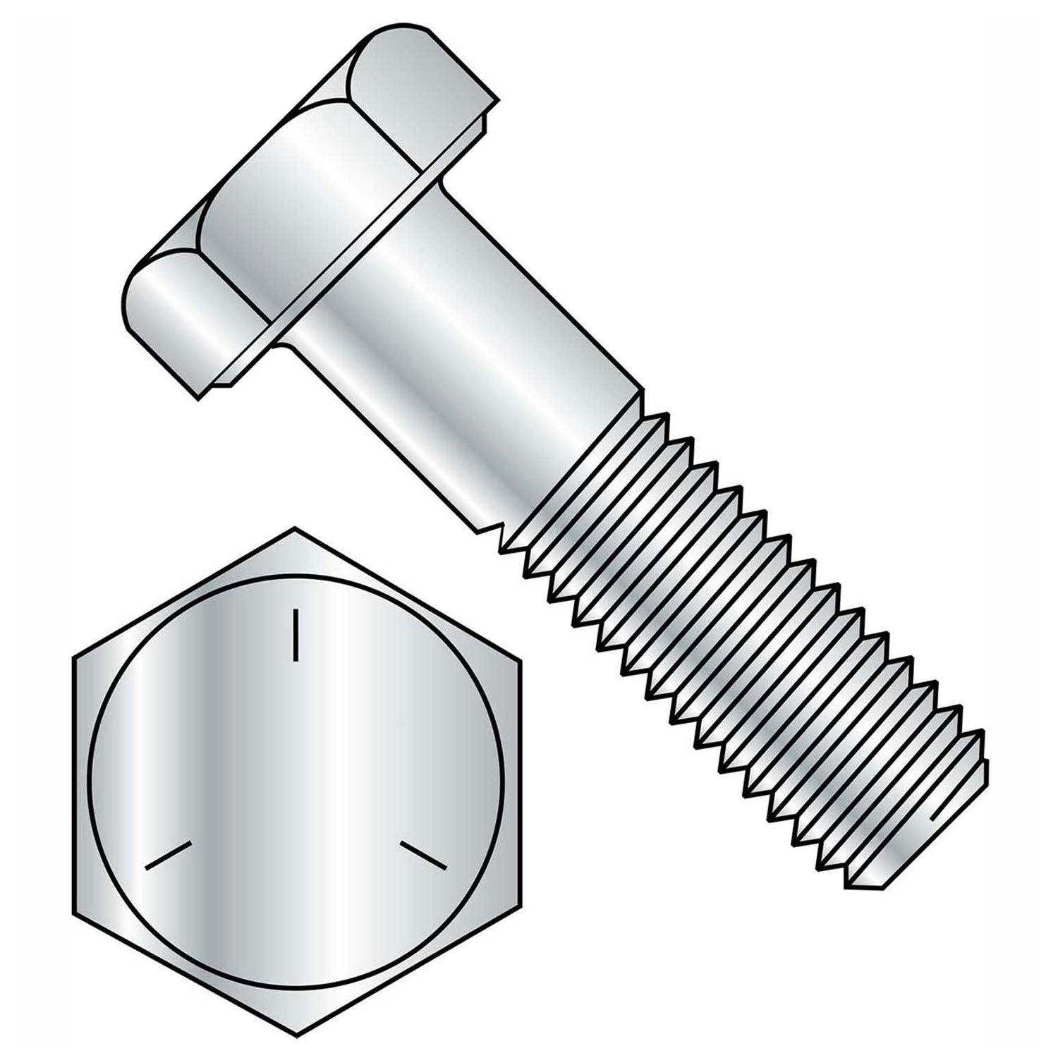 Steel 1-3//4 Long 1//2-13 Thread Size External Hex Brighton-Best International 847300 Hex Medium-Strength Grade 5 Head Screw Pack of 50