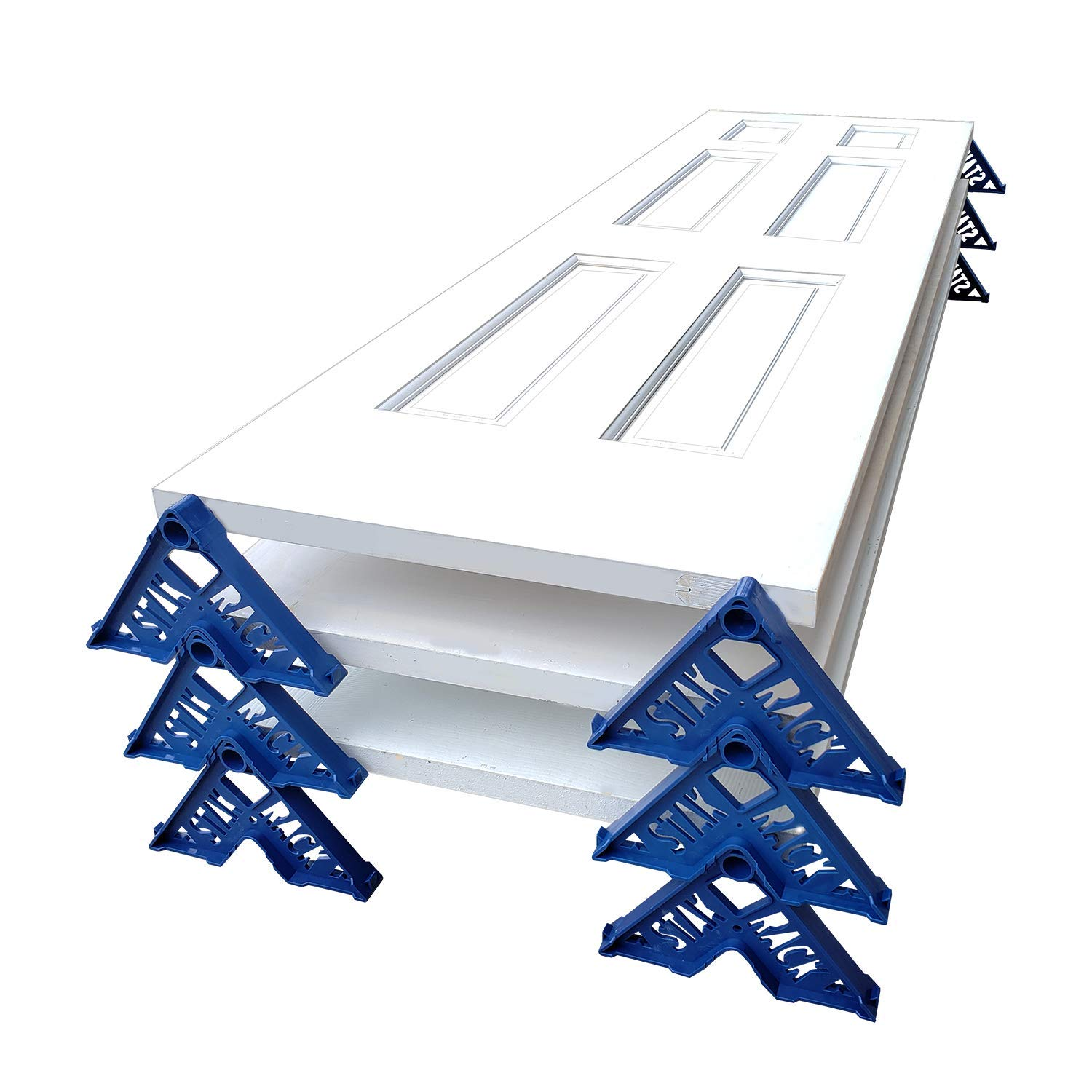 Stak Rack | 4 in 1 Painter's Accessory Tool | Stacking Design | Paint Interior or Exterior Doors, Trim & Kitchen Cabinet Doors| for Contractors & Homeowners (12) by STAK RACK YOUR JOB MADE EASY