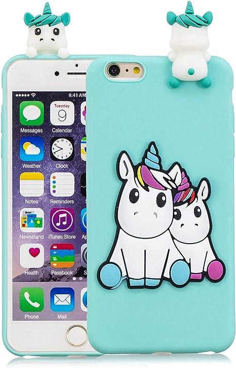 Keteen Cover per iPhone 6, iPhone 6s Custodia, 3D Carino Animale TPU Silicone Bumper Colore della Caramella Flessibile Morbido Anti Graffio Protettiva ...