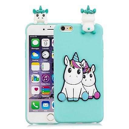 Funluna Funda iPhone 6S/6, 3D Unicornio Patrón Cover Ultra Delgado TPU Suave Carcasa Silicona Gel Anti-Rasguño Protectora Espalda Caso Bumper Case ...