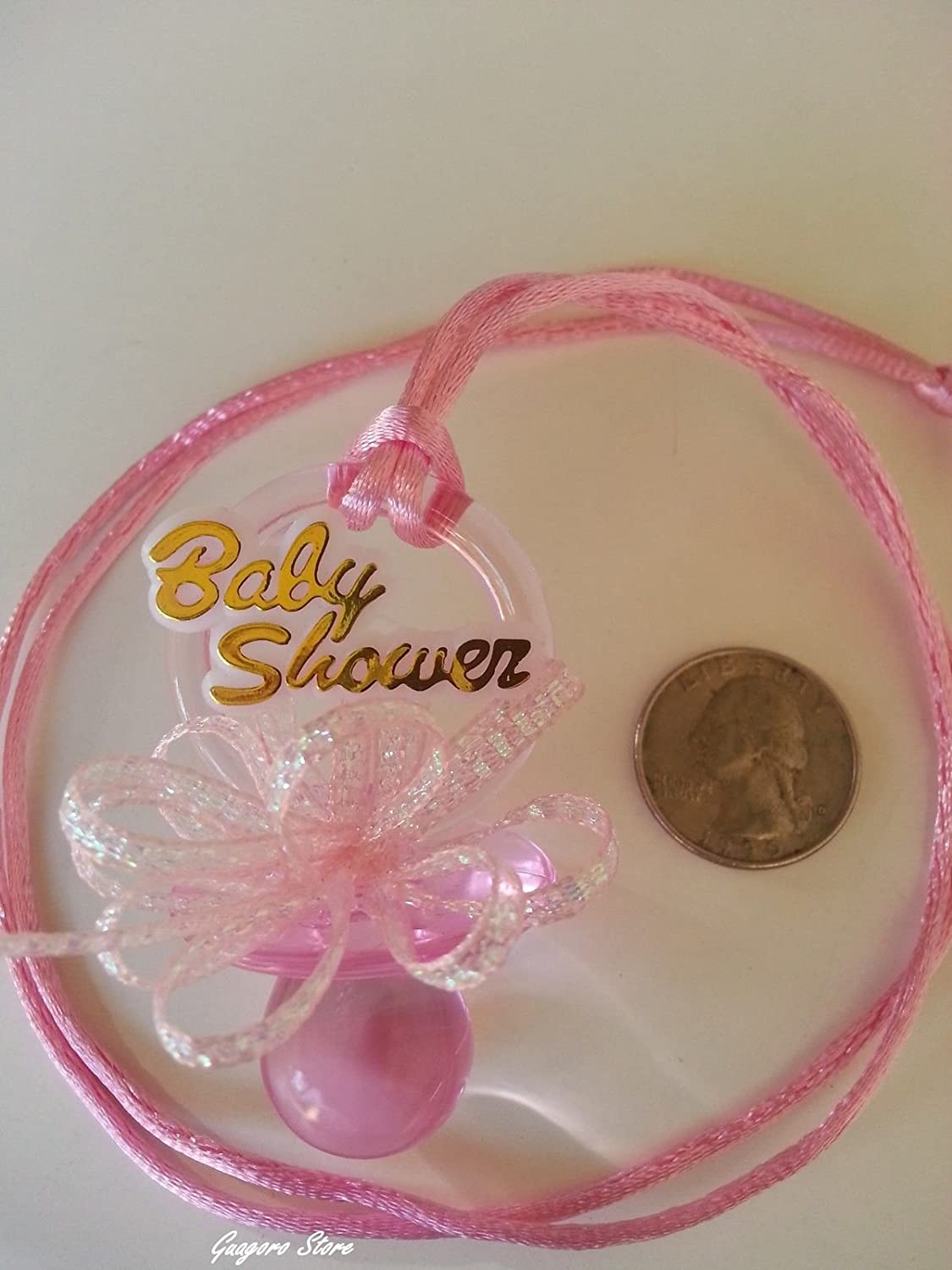 Amazon.com: Collar para chupete para baby shower con 12 ...
