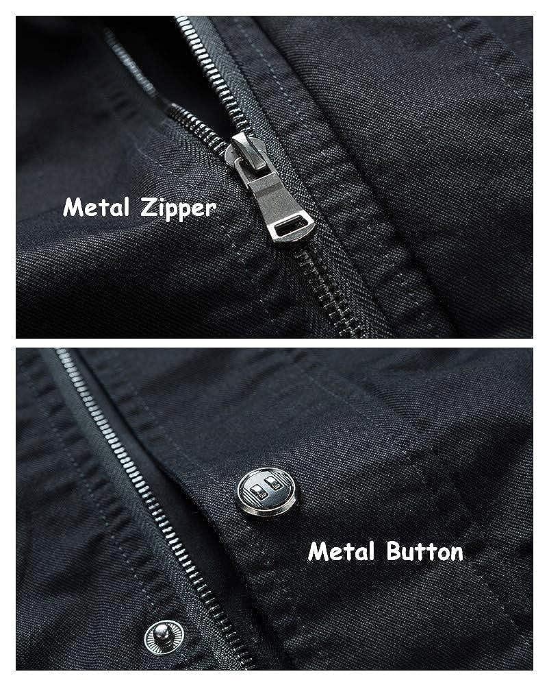 XiaoLongRen Casual Outdoor Windproof Coat Windbreaker Military Jackets for Men