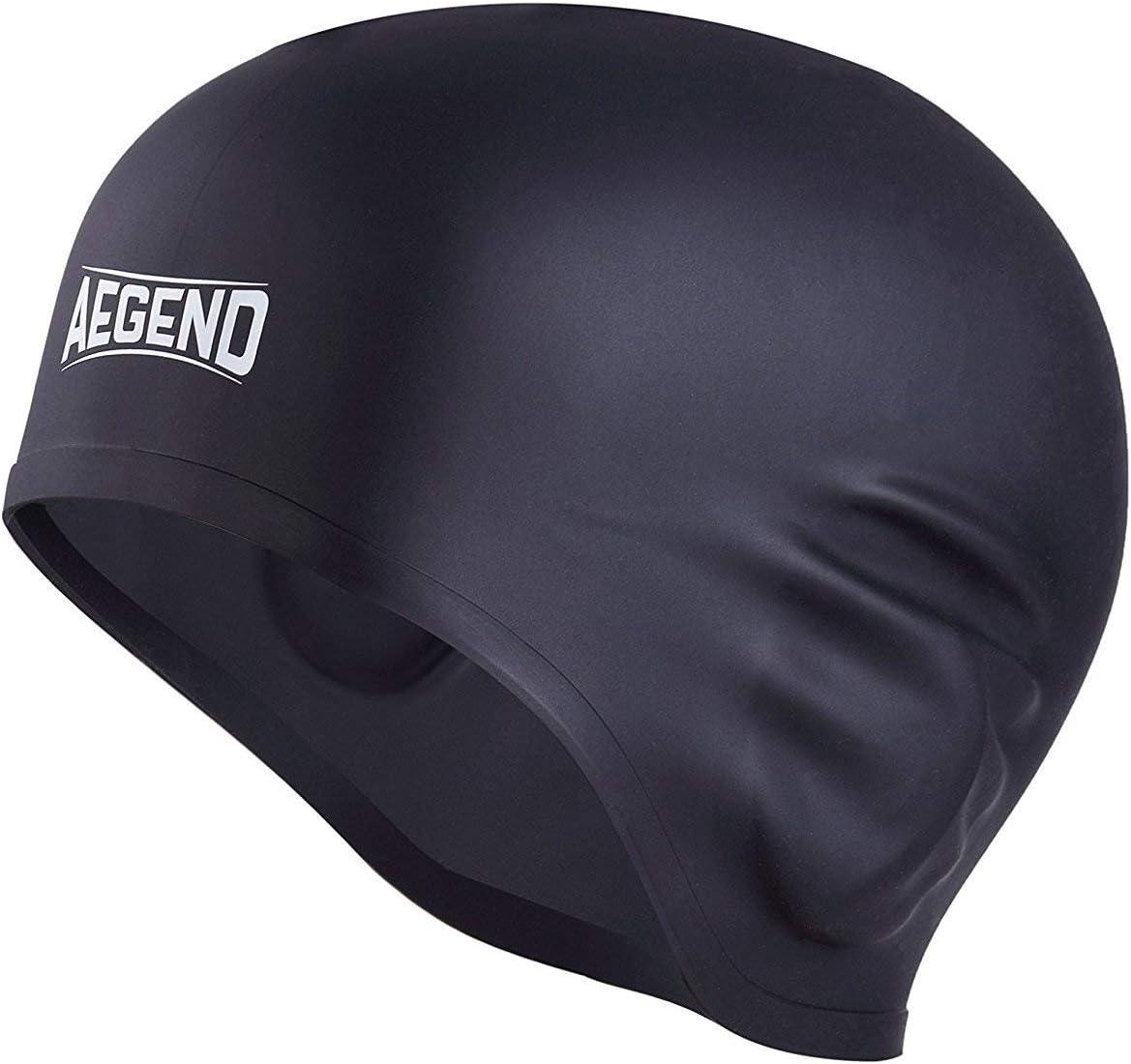 aegend Gorra de natación Negra para Adulto: Amazon.es: Deportes y aire libre
