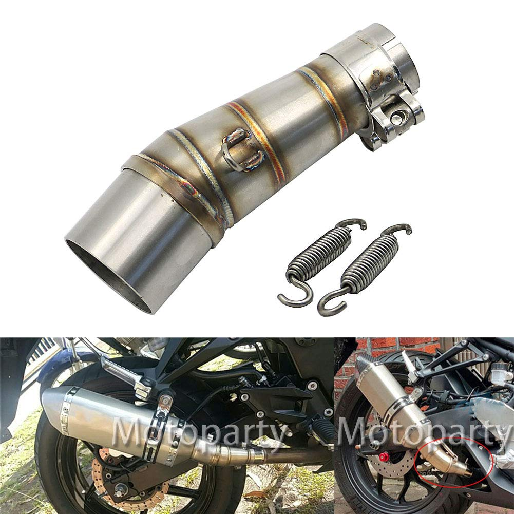 Amazon.com: Motoparty Z250 Exhaust Middle Pipe Muffler Link ...