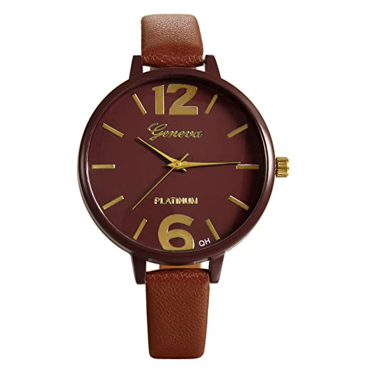 Lancardo Reloj Analógico Clásico Movimiento de Cuarzo Original Dial con Números Árabes Grandes Pulsera Electrónica con