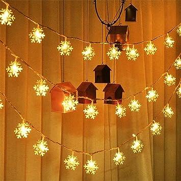 Upxiang Weihnachtsbaum Dekoration Licht Schneeflocken Form ...