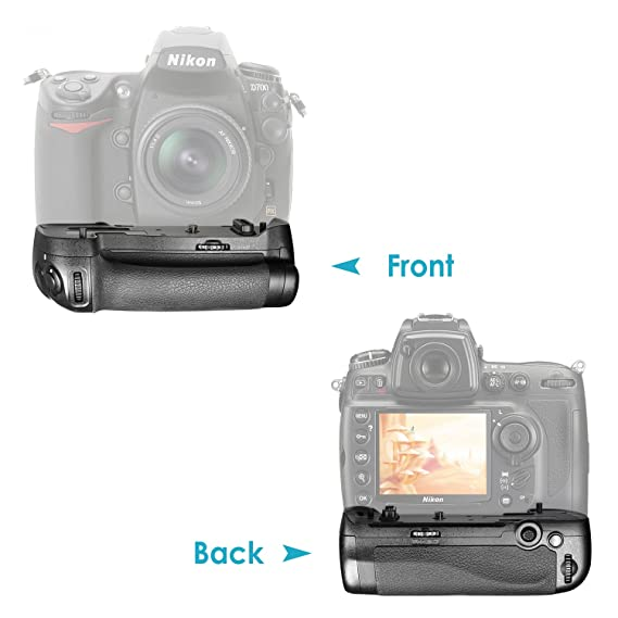 Neewer MB-D17 Replacement Remote Control Battery Grip with 2 Pieces 1900 mAh EN-EL15 Replacement Battery and 1 Piece USB Battery Charger for Nikon D500 Camera
