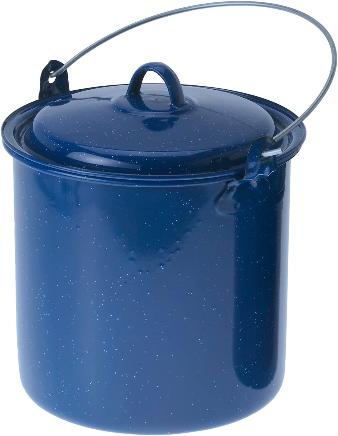 GSI Outdoors Enamled Steel 3.5 qt. Straight Pot with Lid for Campfire Cooking, Home or Cabin